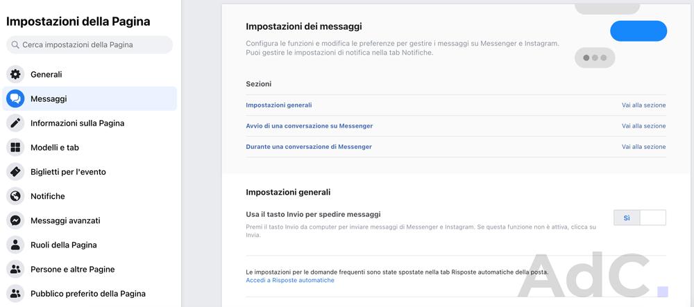 messaggi automatici pagina facebookmessaggi automatici pagina facebook