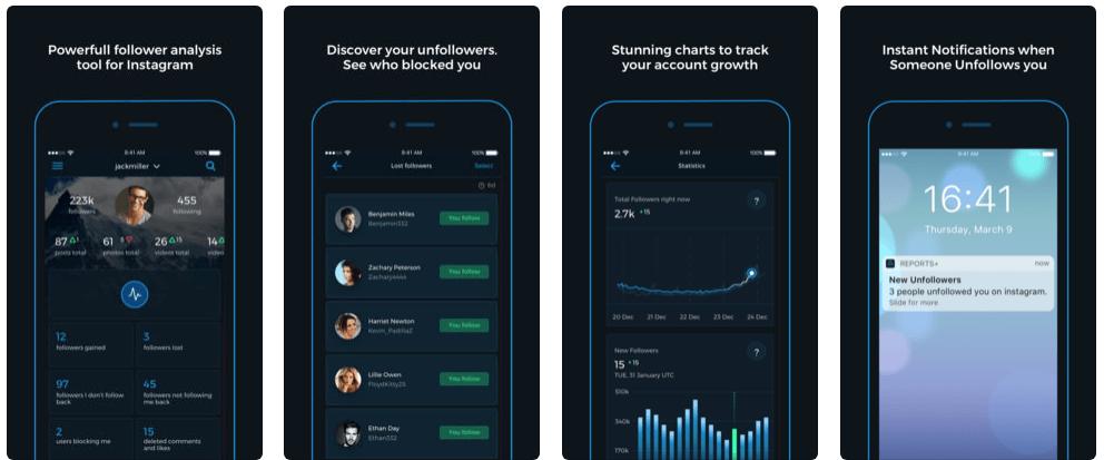 reports app per aumentare follower instagram